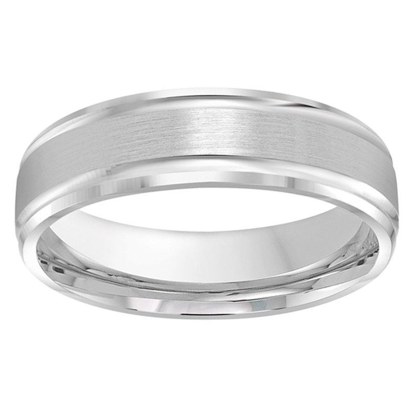 6mm Wedding Ring in 10K White Gold