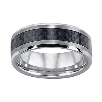 8mm Wedding Ring in Tungsten & Carbon Fiber