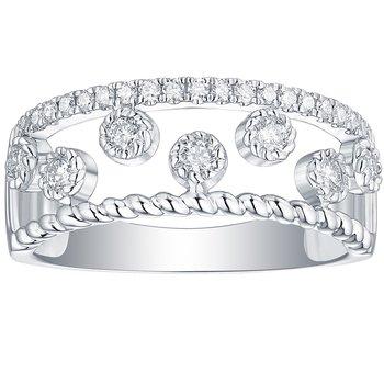 3/8ct tw NewBorn Lab Created Diamond Fashion Ring in 10K White Gold