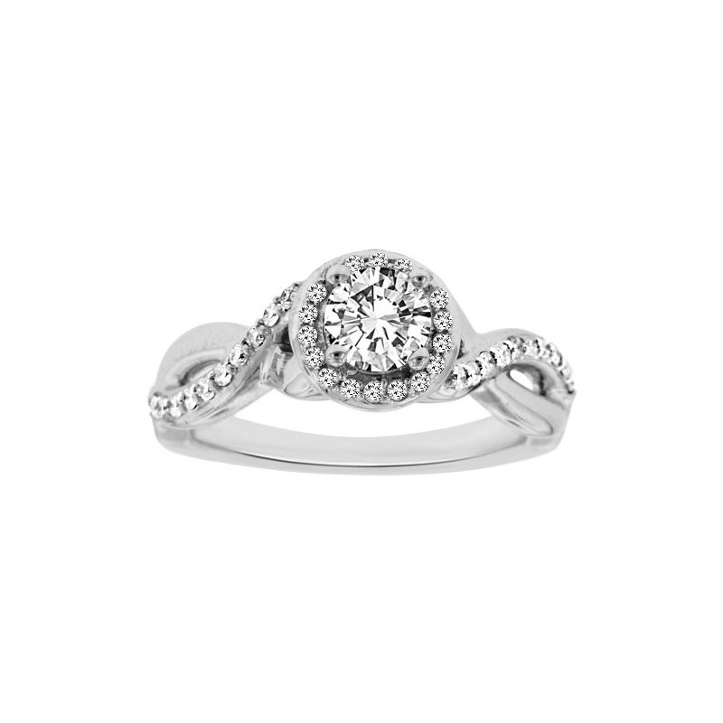 3/4ct tw Diamond Together Forever Engagement Ring in 14K White Gold