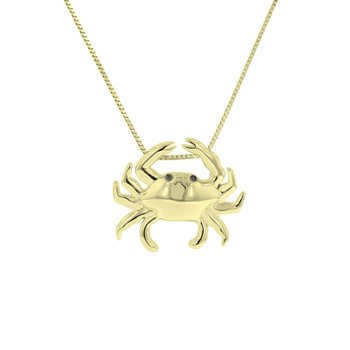 .01ct tw Diamond Nola Collection Crab Necklace in 10K Yellow Gold