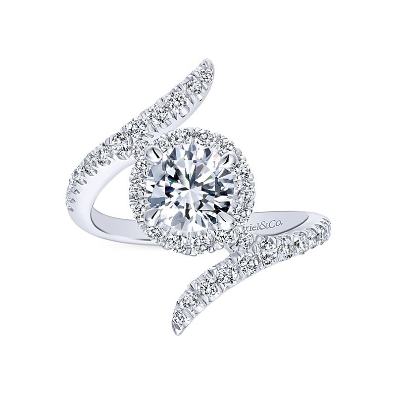 1 7/8ct tw Diamond Halo Engagement Ring in 14K White Gold