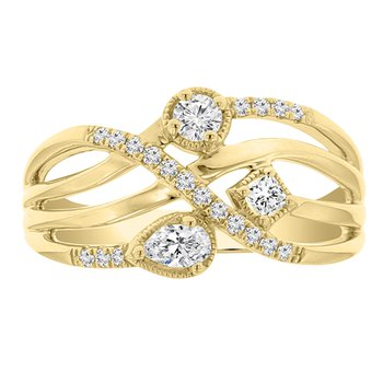 1/3ct tw Diamond Fashion Ring in 14K Yellow Gold