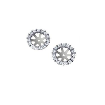5/8ct tw Diamond Earring Jackets in 14K White Gold