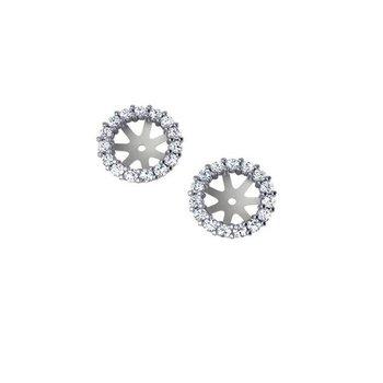 5/8ct tw Diamond Earring Jackets in 14K White Gold
