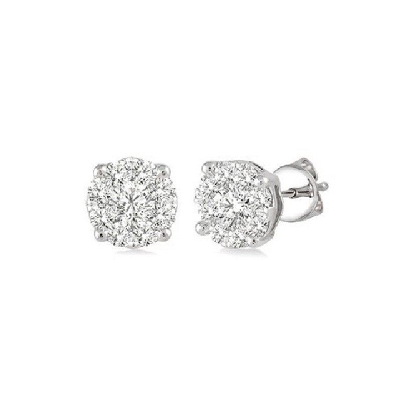 1ct tw Diamond Thousand Points of Light Stud Earring in 14K White Gold