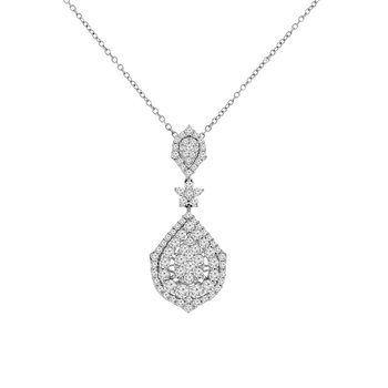 1 3/4ct tw Diamond Thousand Points of Light Necklace in 14K White Gold