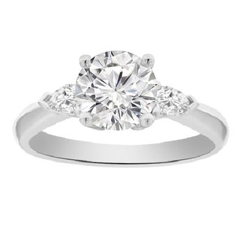 1 1/4ct tw Diamond Three Stone Engagement Ring in Platinum