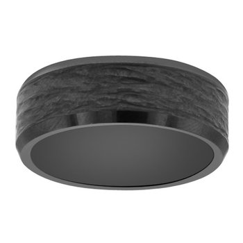 8mm Wedding Ring in Black Ceramic