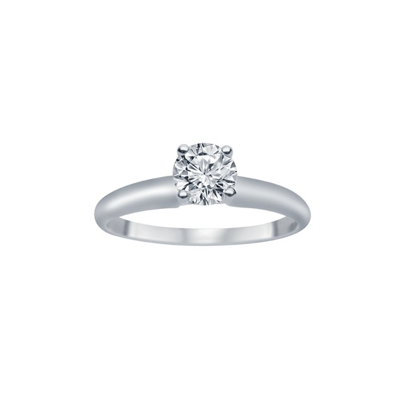 1/5ct Diamond Solitaire Engagement Ring in 14K White Gold