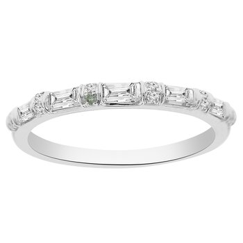 3/8ct tw Diamond Stackable Ring in 18K White Gold
