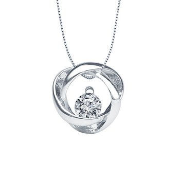 3/4ct tw Diamond Time & Eternity Necklace in 14K White Gold