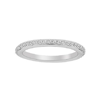 1/4ct tw Diamond Fairy Tale Collection Wedding Ring in 19K White Gold