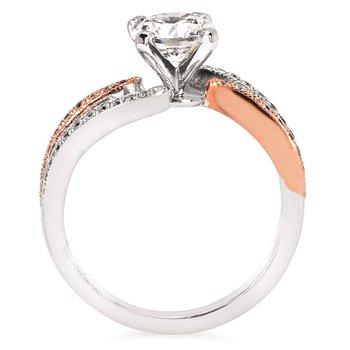 1/5ct tw Diamond Engagement Ring Setting in 14K White & Rose Gold