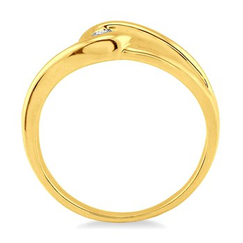1/14ct tw Diamond Knot Ring in 10K Yellow Gold