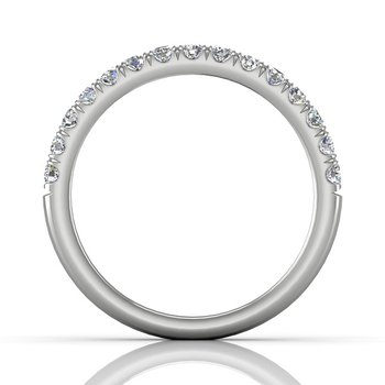 1/2ct tw Diamond Wedding Ring in 14K White Gold