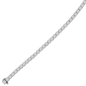 10 1/5ct tw Diamond Tennis Bracelet in 14K White Gold