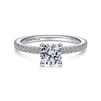 1/5ct tw Diamond Engagement Ring Setting in 14K White Gold