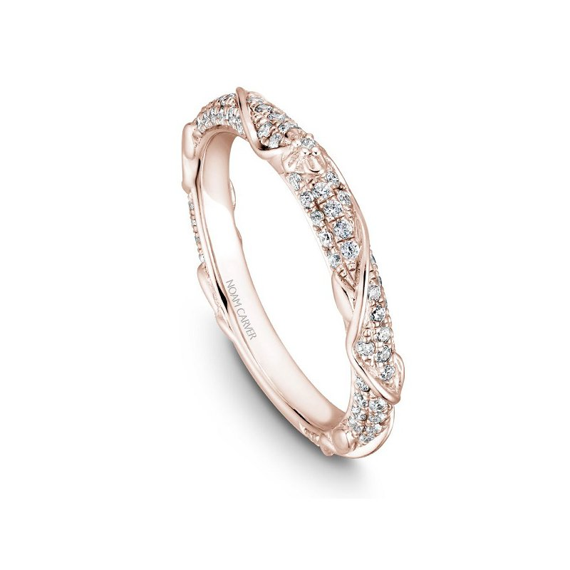 3/8ct tw Diamond Wedding Ring in 14K Rose Gold