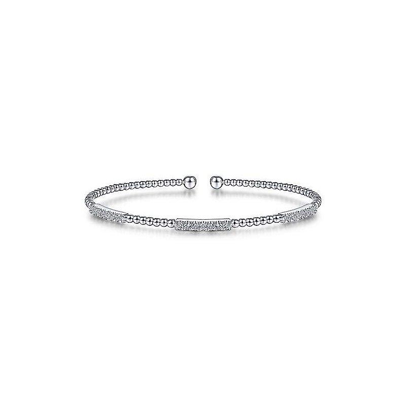 1/2ct tw Diamond Bujukan Bangle Bracelet in 14K White Gold