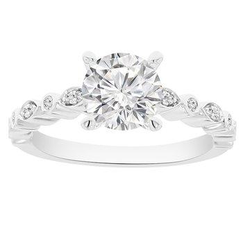 1 1/3ct tw NewBorn Lab Created Diamond Engagement Ring in 14K White Gold