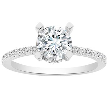 1/3ct tw Diamond Engagment Ring Setting in 14K White Gold