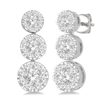 3/4ct tw Diamond Thousand Points of Light Earrings in 14K White Gold