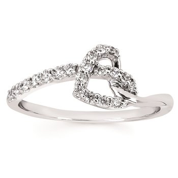 1/4ct tw Diamond Heart Ring in Sterling Silver