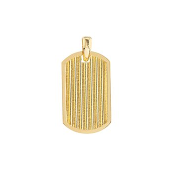 Dog Tag Pendant in 14K Yellow Gold