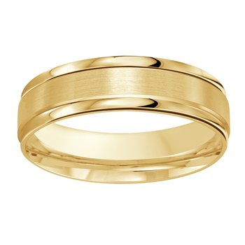 6mm Wedding ring in 14K Yellow Gold