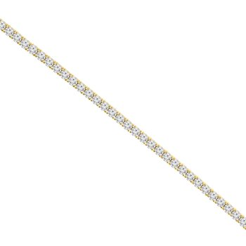 11 1/2ct tw NewBorn Lab Created Diamond Tennis Bracelet in 14K Yellow Gold