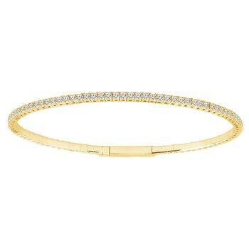 1 1/3ct tw Diamond Flexi Collection Bangle Bracelet in 14K Yellow Gold