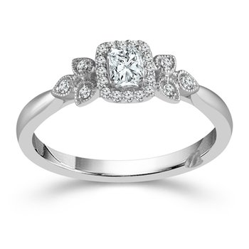 1/4ct tw Diamond True Promise Engagement Ring in 10K White Gold
