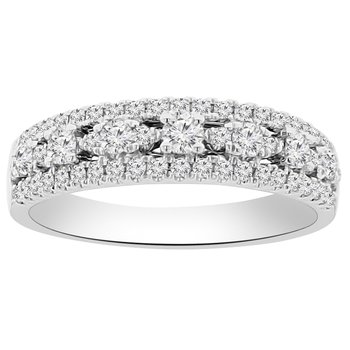 5/8ct tw Diamond Fashion Ring in 18K White Gold