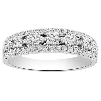5/8ct tw Diamond Fashion Ring in 18K White Gold