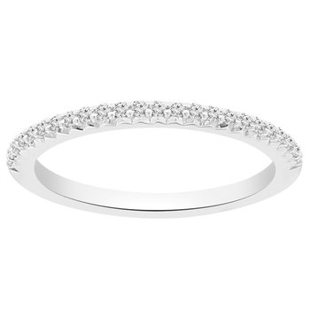 1/8ct tw NewBorn Lab Created Diamond Wedding Ring in 14K White Gold