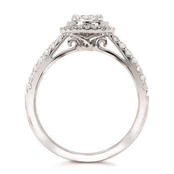 5/8ct tw Diamond Halo Engagement Ring in 14K White Gold