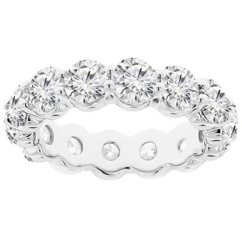 4 7/8ct tw NewBorn Lab Created Diamond Eternity Ring in 14K White Gold