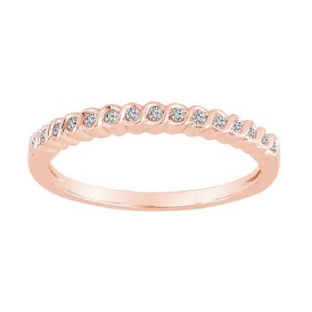 1/10ct tw Diamond Stackable Ring in 10K Rose Gold