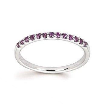 June Birthstone Ring in 14K White Gold