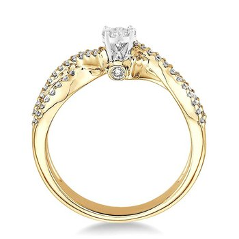3/8ct tw Diamond Thousand Points of Light Engagement Ring in 14K White & Yellow Gold