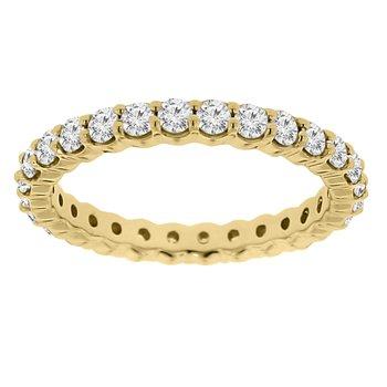 1ct tw Diamond Eternity Ring in 14K Yellow Gold