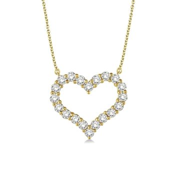 3/4ct tw Diamnd Heart Necklace in 14K Yellow Gold