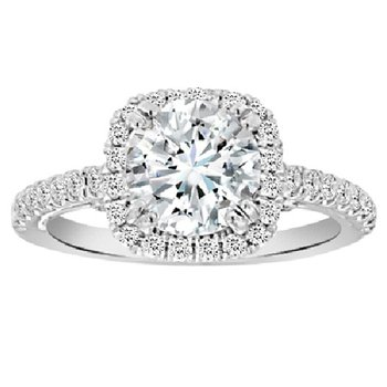 2 7/8ct tw NewBorn Lab Created Diamond Engagement Ring in 18K White Gold