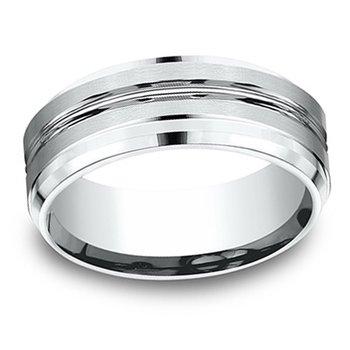 8mm Wedding Ring in 14K White Gold