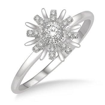 1/8ct tw Diamond Celestial Ring in 14K White Gold