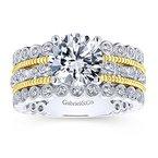 2 1/2ct tw Diamond Engagement Ring in 14K White & Yellow Gold