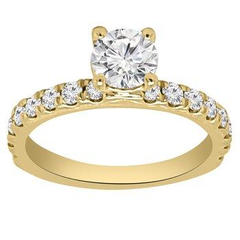 1ct tw NewBorn Lab Created Diamond Engagement Ring in 14K Yellow Gold