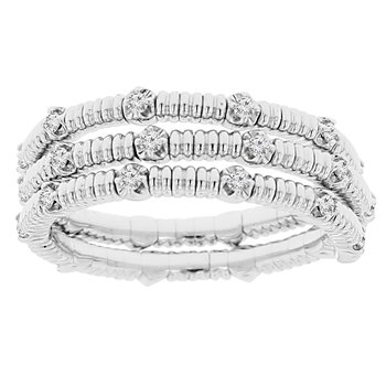 1/4ct tw Diamond Flexi Collection Ring in 14K White Gold