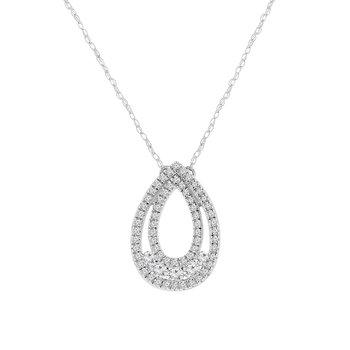 3/8ct tw Diamond Fashion necklace in 10K White Gold.